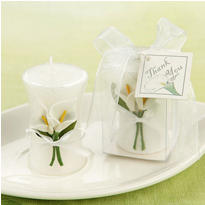Calla Lily Elegance Vase Shaped Candle Wedding Favor