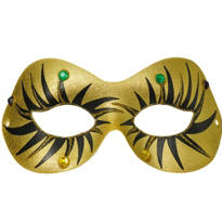 Gold Fashion Glitz Masquerade Mask