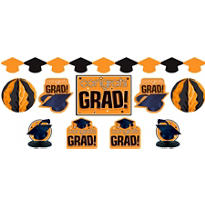 Orange Graduation Decorating Kit 10pc