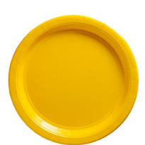 Sunshine Yellow Paper Lunch Plates 20ct