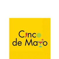 Cinco de Mayo Beverage Napkins 16ct