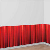 Red Curtain Hollywood Decor Panel 10ft