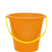 Orange Small Pail 5in