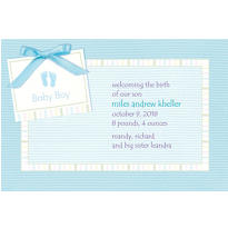 Baby Soft Blue Custom Birth Announcements