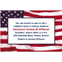 Flying Colors Custom Patriotic Invitation