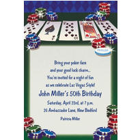 Texas Hold'em Custom Invitation