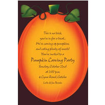 Pumpkin Glow Halloween Custom Invitation