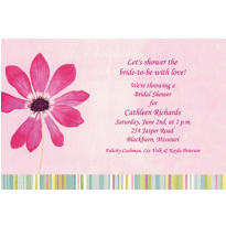Watercolor Blooms Custom Invitation