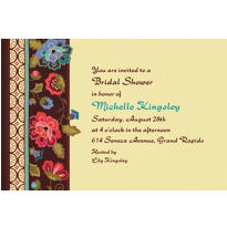 Elegant Jacquard Custom Invitation