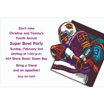 Football Card Custom Invitation