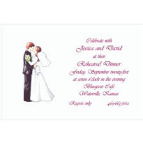Retro Wedding Couple Custom Wedding Invitation