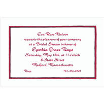Black & Red Lines Custom Invitation