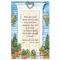 Country Front Door Custom Housewarming Invitation