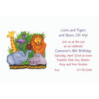 Zoo Animals Custom Invitation