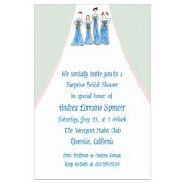 The Bridesmaids Custom Wedding Invitation