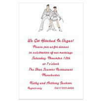 Custom Viva Las Vegas! Wedding Invitations