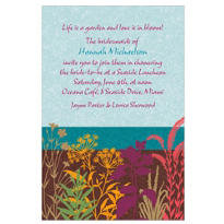 Floral Silhouettes Custom Invitation