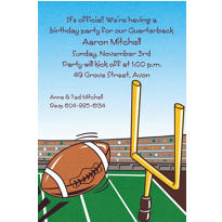 Field Goal Custom Invitation