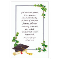 Custom Grad Cap & Ivy Graduation Invitations