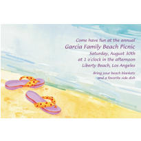 Custom Sandals in the Sand Invitations