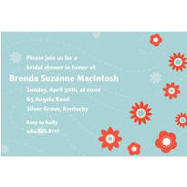 Lovely Orange Buds Custom Invitation