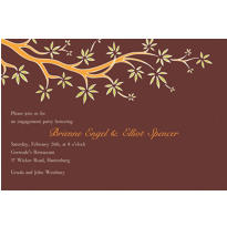 Budding Tree Bold Custom Invitation