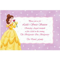 Belle on Mini Stars Custom Invitation