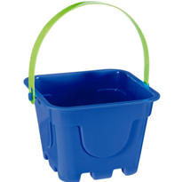 Blue Square Pail 4in x 5in