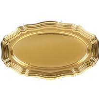 Gold Plastic Oval Platter 17 1/2in