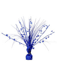 Blue Foil Spray Centerpiece 12in