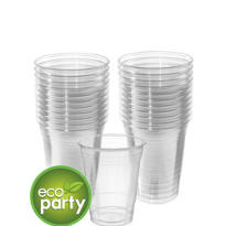 Biodegradable Clear Party Cups 24ct