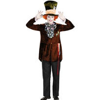 Teen Boys Mad Hatter Costume Deluxe - Tim Burton's Alice in Wonderland
