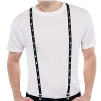 Black Studded Suspenders