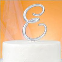Monogram E Cake Topper