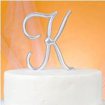 Monogram K Cake Topper