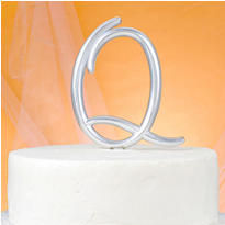 Monogram Q Wedding Cake Topper