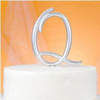 Monogram Q Cake Topper
