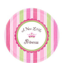 Little Princess Baby Shower Dessert Plates 8ct