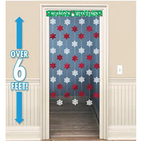 Holiday Door Curtain 48in