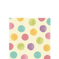 Soft Watercolors Beverage Napkins 16ct