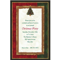 Joyful Gathering Custom Christmas Invitation