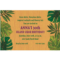 Island Palms Custom Invitation