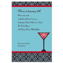 Mod Martini Custom Invitation