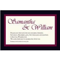 Austere Border Burgundy Custom Invitation