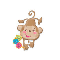 Foil Fisher Price Baby Monkey Baby Shower Balloon 40in
