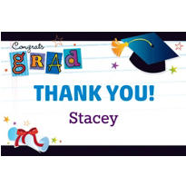 Grad Wishes Custom Thank You Notes