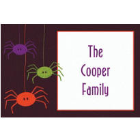 Spider Frenzy Halloween Custom Thank You Note