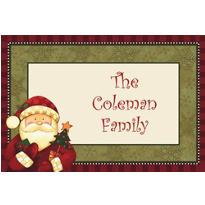 Cozy Santa Custom Christmas Thank You Note