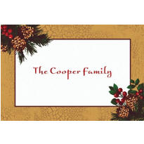 Holiday Splendor Custom Thank You Note