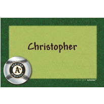 Oakland Athletics Custom Thank You Note